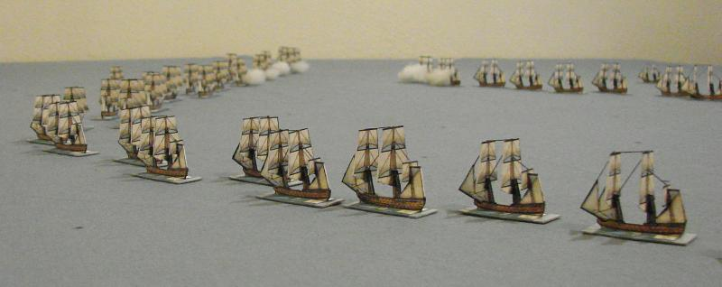 18th Century fleets in action